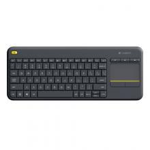 Logitech kláv. Wireless Touch Keyboard K400 Plus, CZ, černá, unifying přijímač