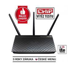 ASUS RT-AC66U, Dvoupásmový gigabitový router AC1750 pro bezdrátovou síť 802.11ac, Dual Band, AP mód, 3G/4G podpora, 802.11AC