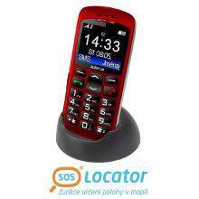 Aligator A670 Senior červený + stolní nabíječka Mobilní telefon