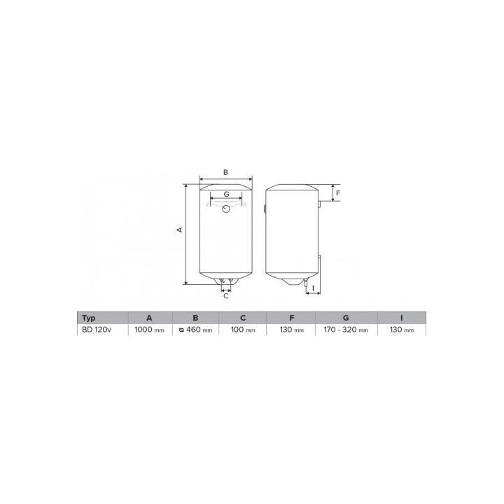 HAKL BD 120v zásobníkový ohřívač vody HABD120V