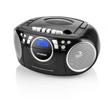 Radiomagnetofon Hyundai TRC 788 AU3BS s CD/MP3/USB, černá/stříbrná