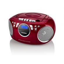 Radiomagnetofon Hyundai TRC 788 AU3RS s CD/MP3/USB, červená/stříbrná