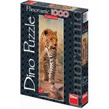 Dino LEOPARD Z KENI,Puzzle 1000 dílků panorama