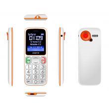 Mobilní telefon Aligator Senior A320 DualSim - bílý/ oranžový