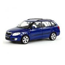 Welly Škoda Fabia Combi Modrá 2009 1:24