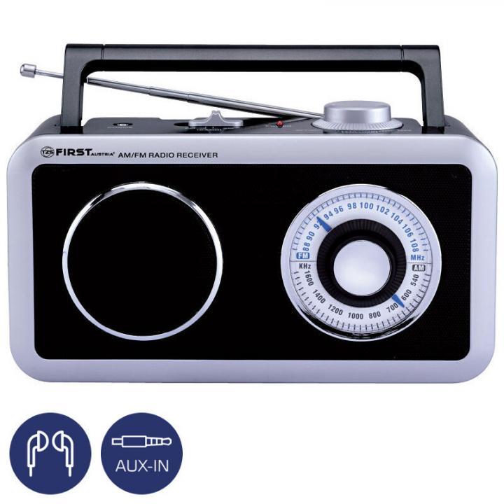 First FA-1905 BA, černo-šedé rádio