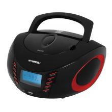 Hyundai TRC 182 ADRU3BR,  CD/MP3/USB, černý/červený Radiopřijímač