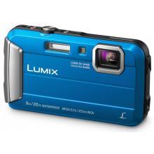 Panasonic DMC-FT30EP-A, 16Mpx, 4x zoom 25mm OIS, HD, vodotěsný 8m, modrý