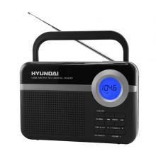 Hyundai PR 471 PLL SU BS radiopříjímač, digitální FM tuner, USB a mikro SD vstup, černý