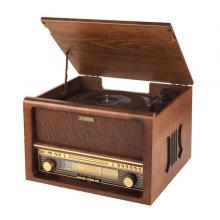 Gramofon Hyundai RTCB 503 RIP, FM tuner, s CD, USB vstup, ripování, bluetooth, dřevěné provedení