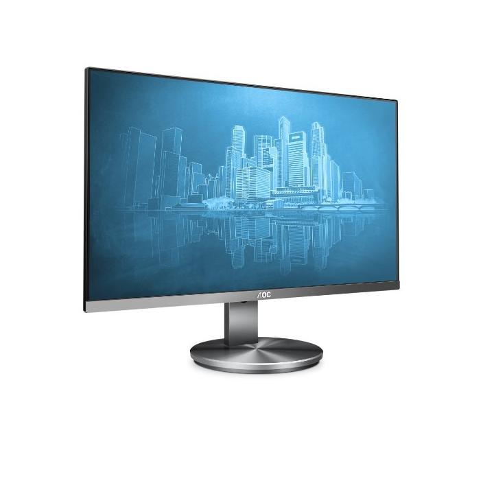 """AOC LCD I2490VXQ 23,8"""" IPS/1920x1080/20m:1/4ms/VGA/HDMI/DP/repro/tmavě šedý - lesklý"""
