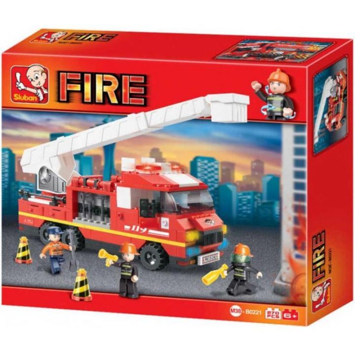 Stavebnice auto požární, 270 ks