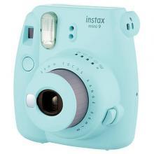 Fujifilm INSTAX MINI 9 camera big bundle  (+ 1x10 film + case) - Ice Blue