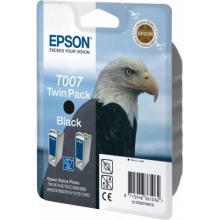 EPSON cartridge T0074 black twinpack (orel)