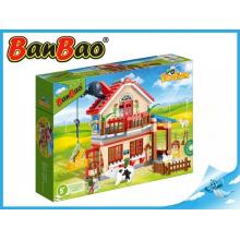 BanBao stavebnice Eco Farm farmářský domeček 315ks +3