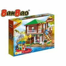BanBao stavebnice Safari lodge s ohradami 465ks +5 figurek