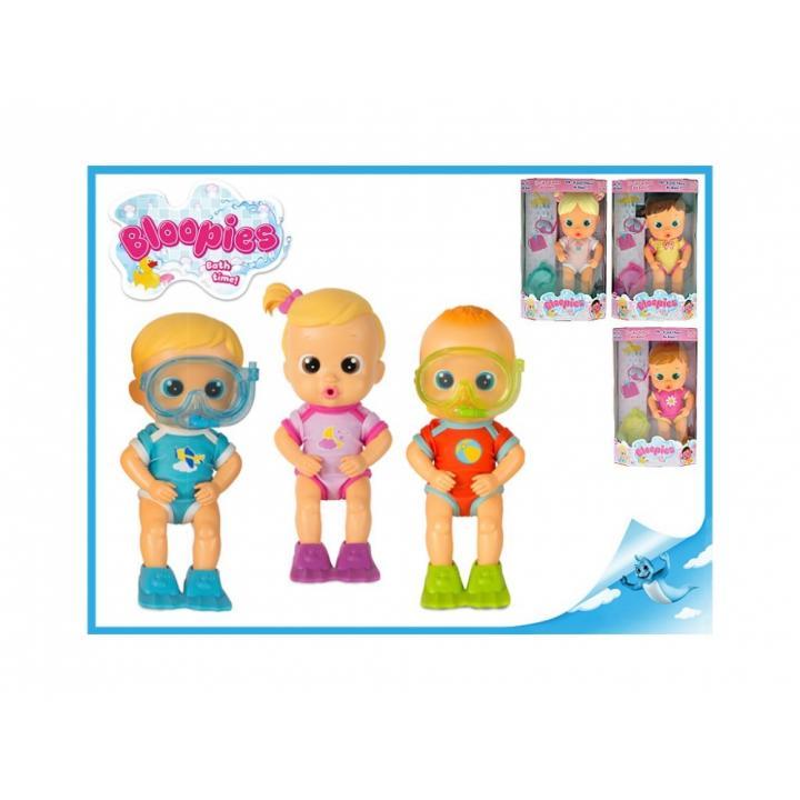 Bloopies miminko do vany 20cm stříkající vodu 18m+ Kluk blond vlasy