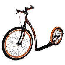 Koloběžka pro dospělé WILCOX TOURER černo-oranžová