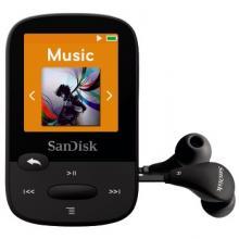 SanDisk Clip Sports 8 GB, FM rádio, MP3, WMA, microSDHC, černá