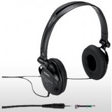 SONY MDR-V150 - DJ uzavřená sluchátka, 30mm membrána s rozsahem 16-22 000 Hz. Barva černá