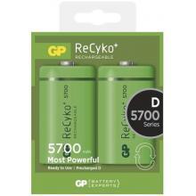 Baterie D velké mono dobíjecí 5700mAh 1,2V ReCyko+ GP /blistr 2ks
