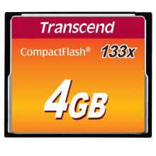 Transcend 4GB CF (133X) paměťová karta