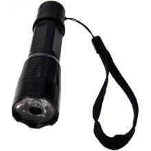 Solight kovová svítilna malá, 1 W LED, černá, 1 x AA