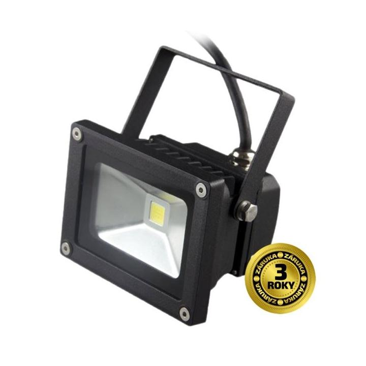 SOLIGHT LED reflektor SMD 10W černý 700lm, 6000K, 1xCOB LED WM-10W-E