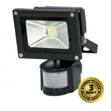LED reflektor SMD s čidlem pohybu 10W černý, 700lm, 6000K, 1xCOB LED WM-10WS-E
