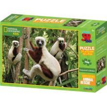 Lamps 3D Kids Lemur 100 dílků
