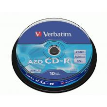 VERBATIM CD-R AZO Crystal 700MB 10ks/balení