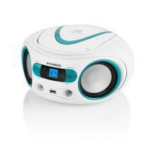 Hyundai TRC 533 AU3WBL s CD/ MP3/ USB, bílá/ modrá Radiopřijímač