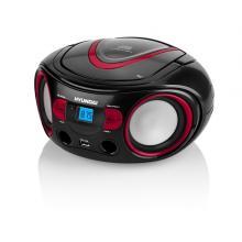Hyundai TRC 533 AU3BR s CD/ MP3/ USB, černá/ červená Radiopřijímač