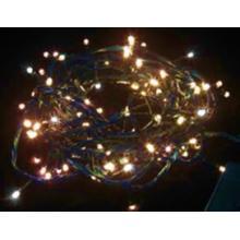 Vánoční osvětlení 100 LED - TEPLÉ BÍLÉ / 10LED bliká