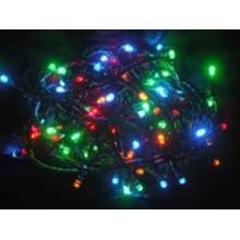Svíčky 100 LED barevné jiskřící vnitřní,řetěz 7,92m+1,5m kabel