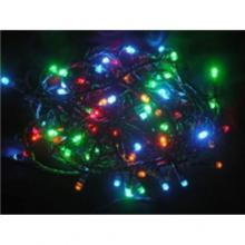 Svíčky venkovní 180 LED barevné jiskřící, řetěz 17,9m+5m kabel