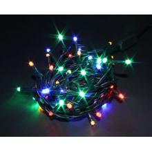 Svíčky  50 LED barevné vnitřní řetěz 3,92m+1,5m kabel