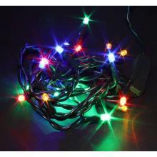 Svíčky  20 LED barevné vnitřní řetěz 1,33m+1,5m kabel