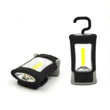Solight LED svítilna plast 3W COB+ 3 SMD LED, hák, magnet