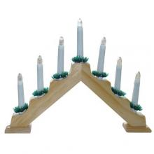 Svícen vánoční 7 žárovek světlé dřevo vnitřní