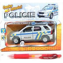 Auto policie 13cm kov zvuk+světlo