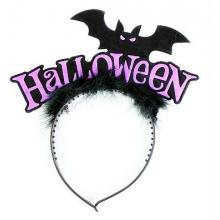 Čelenka netopýří s peřím Halloween