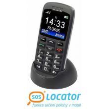 Aligator A 670 Senior černý + stolní nabíječka mobilní telefon