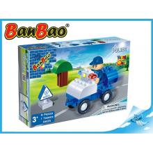 BanBao stavebnice Police Young Ones policejní auto 9ks + 1 figurka ToBees