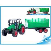 Traktor s vlečkou 40cm v krabičce