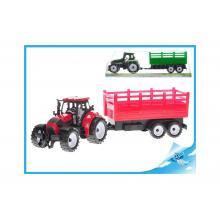 Traktor s vlečkou 38cm na setrvačník 2barvy