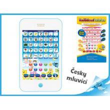Vzdělávací telefon 21x12x2,5cm na baterie česky mluvící 2barvy