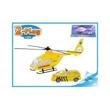 helikoptéra 18cm kov s autem 7,5cm kov 2druhy
