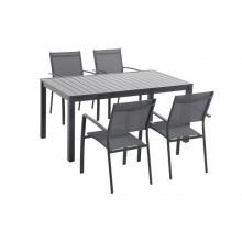 Nábytek Garland Vital 4+ (1x stůl Vital 150 + 4x židle stohovatelná Clara)