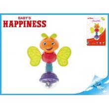 Chrastítko brouček 13cm Baby´s Happiness 3m+